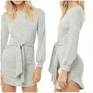 Dresses & Skirts - NWT!!!GRAY TIE AT WAIST MINI DRESS
